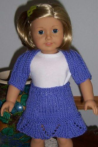 "Ravelry: Umbrella Flounce Skirt for 18"" dolls pattern by Janice Helge"