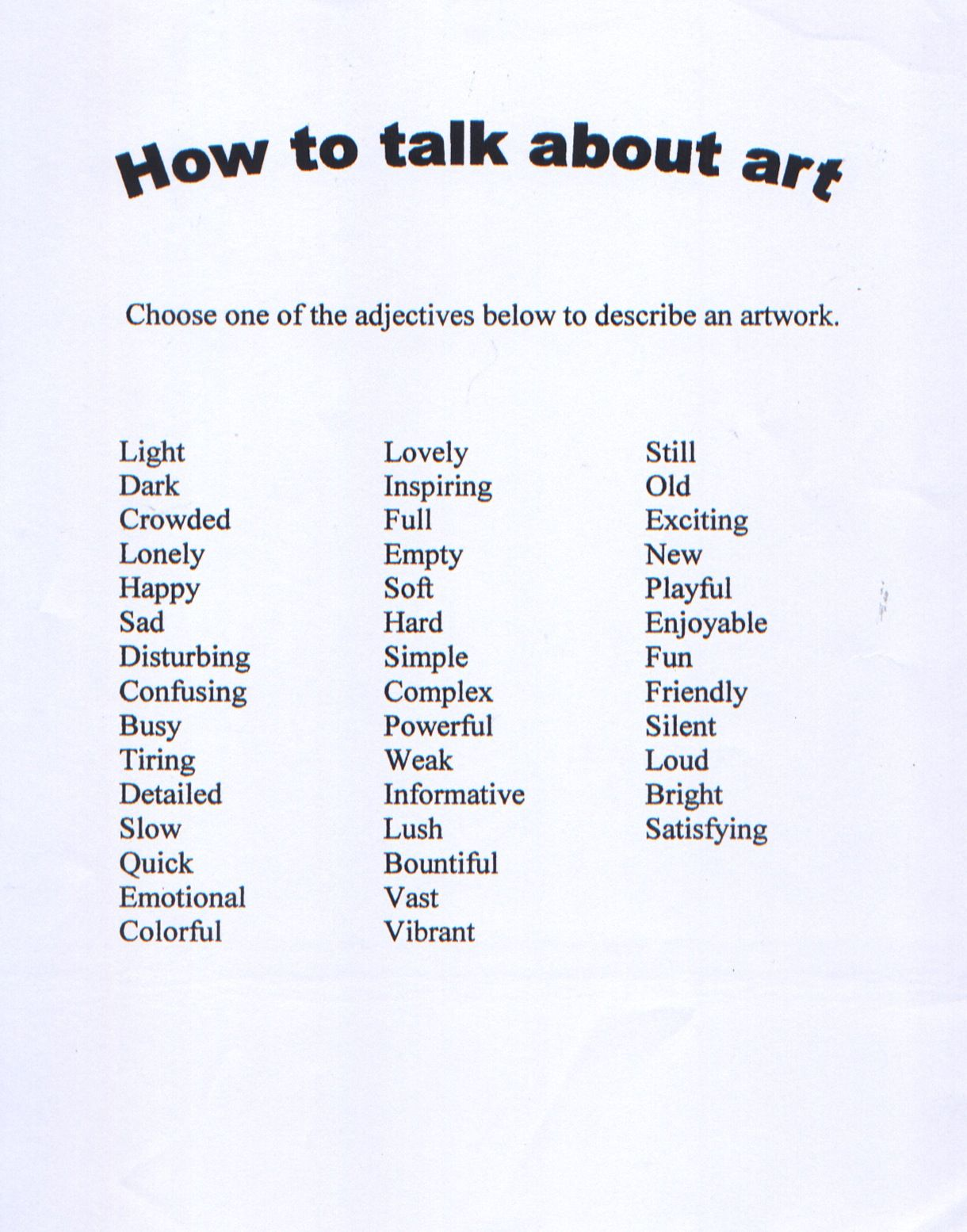 Pin By Courtney H On Art Ideas Art Rubric Art Criticism