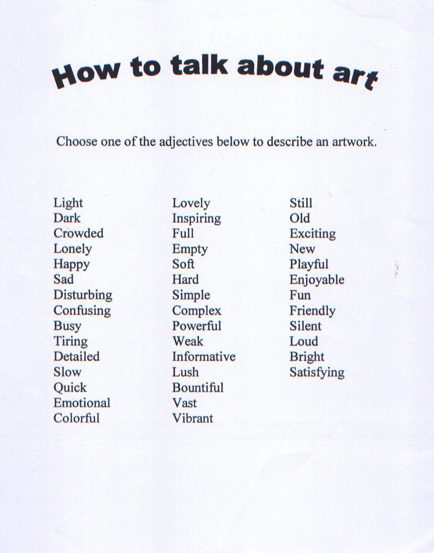 worksheet Art Critique Worksheet httpwww bermudanationalgallery comactivity worksheets how to talk
