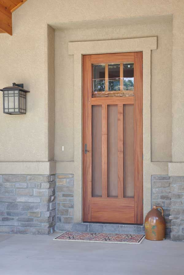 The art craft of new construction storm doors for Entry door with storm door
