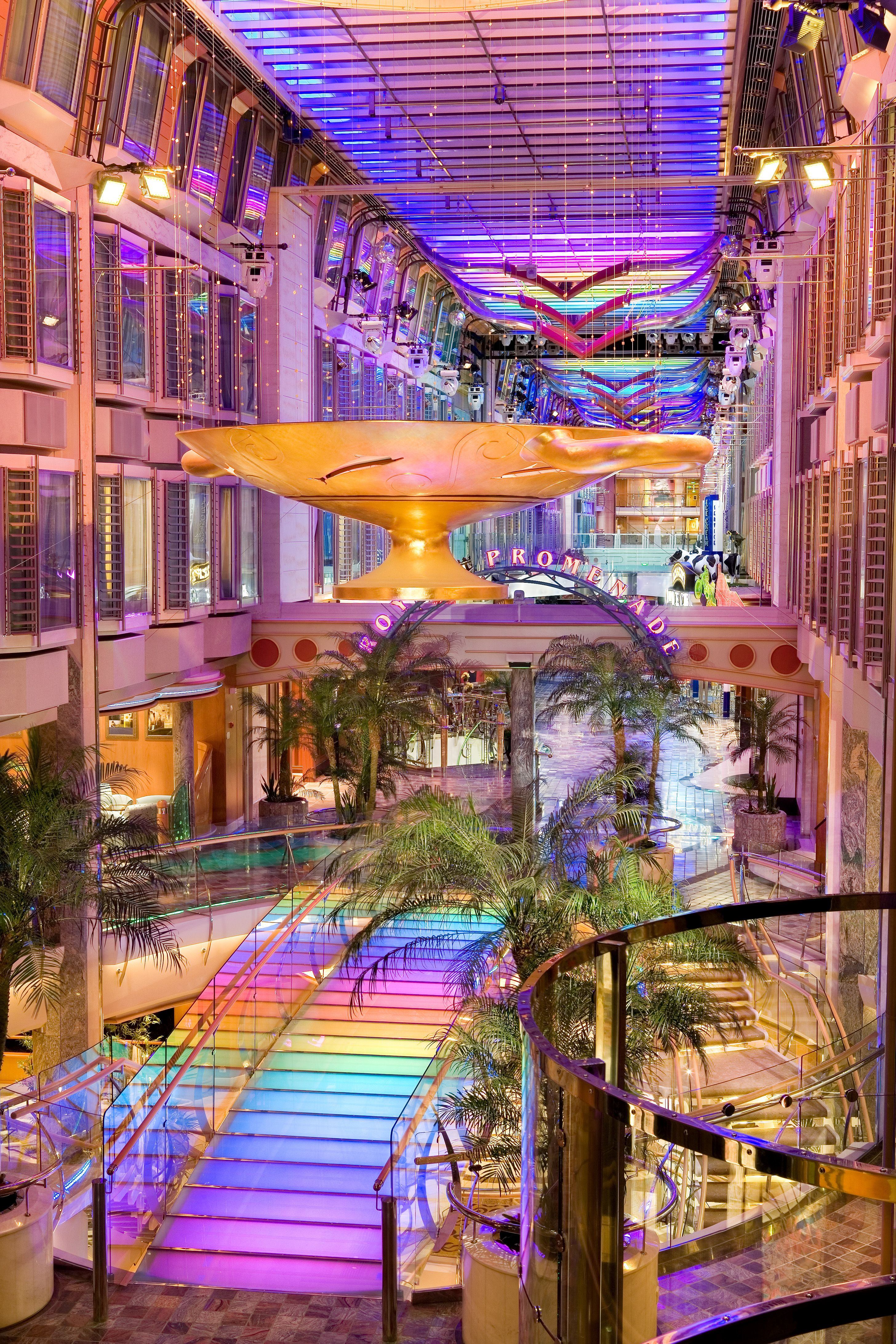 On Board The Royal Caribbean S Independence Of The Seas Cruise Ships Interior Independence Of The Seas Liberty Of The Seas