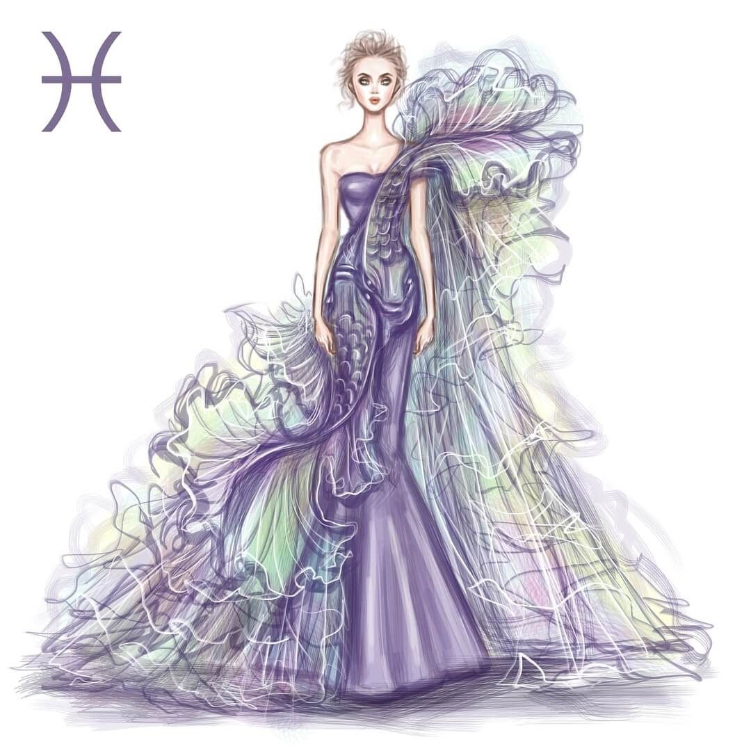 Photo of Zodiac Haute Couture Exquisite Fashion Drawings