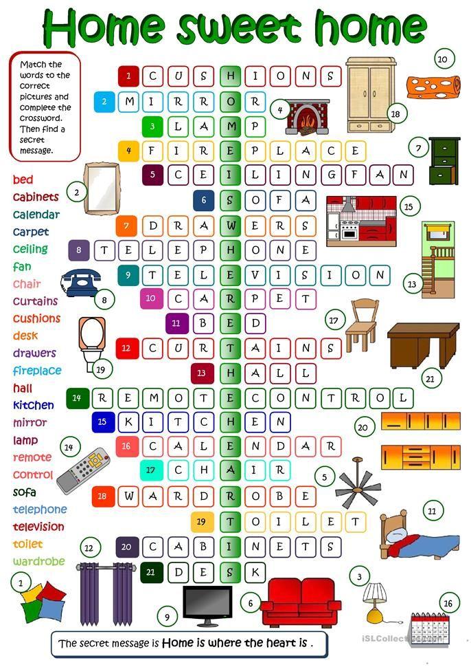 Home sweet home  Teaching English  Vocabulario en ingles