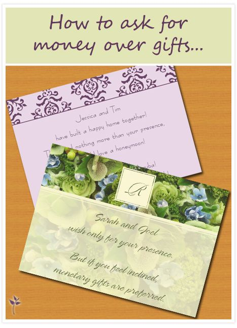 Wedding Gift Registry Asking For Money : how to ask for money for your wedding... Wedding Tips & Tricks ...
