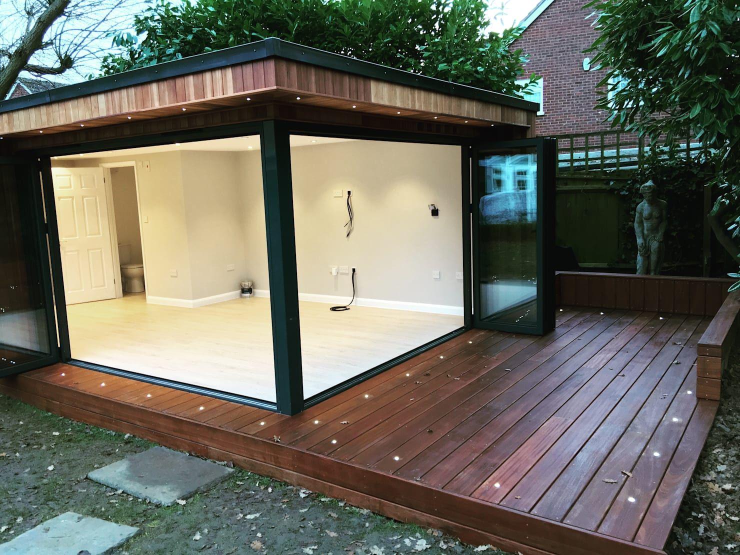 An Essex Couple Got Their Dream Garden Room For 41k Homify Summer House Garden Backyard Office Modern Garden