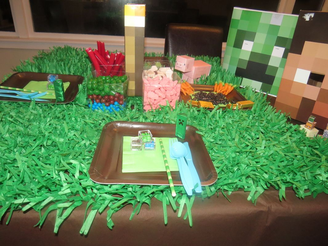 Minecraft Party Ideas And Supplies Nz Minecraft Birthday Party Minecraft Party Decorations Minecraft Party