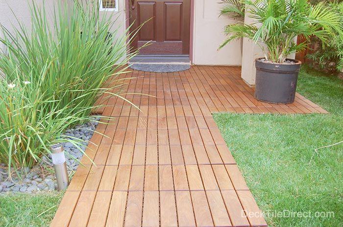 deck tiles walkway around the house pinterest walkways