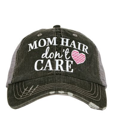 4db5a44a Love this Gray & Heater Pink 'Mom Hair, Don't Care' Trucker Hat on #zulily!  #zulilyfinds