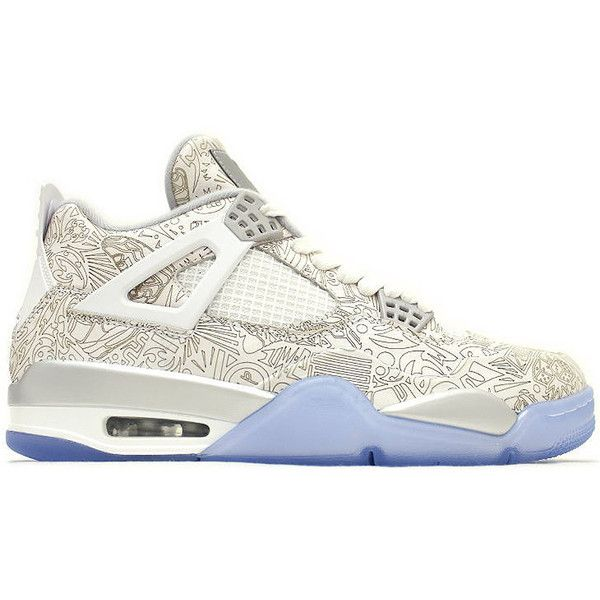 4f90f425e25f12 Nike Air Jordan 4 Retro Laser ( 350) ❤ liked on Polyvore featuring men s  fashion