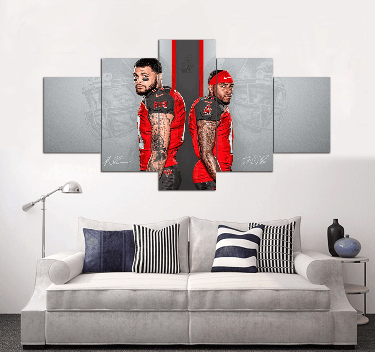 Tampa Bay Buccaneers Canvas Wall Art Decor 5 Piece Canvas Art Prints