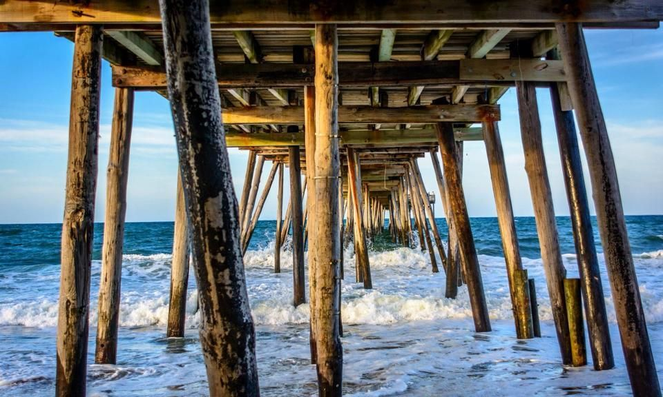 Beach, Water, Soundside Category. Under the boardwalk at Avalon fishing pier June 2014. James Young