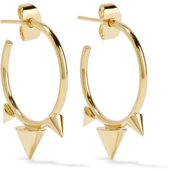 Isabel Marant Gold Tone Hoop Earrings 91 Via Polyvore Featuring Jewelry Spike Br