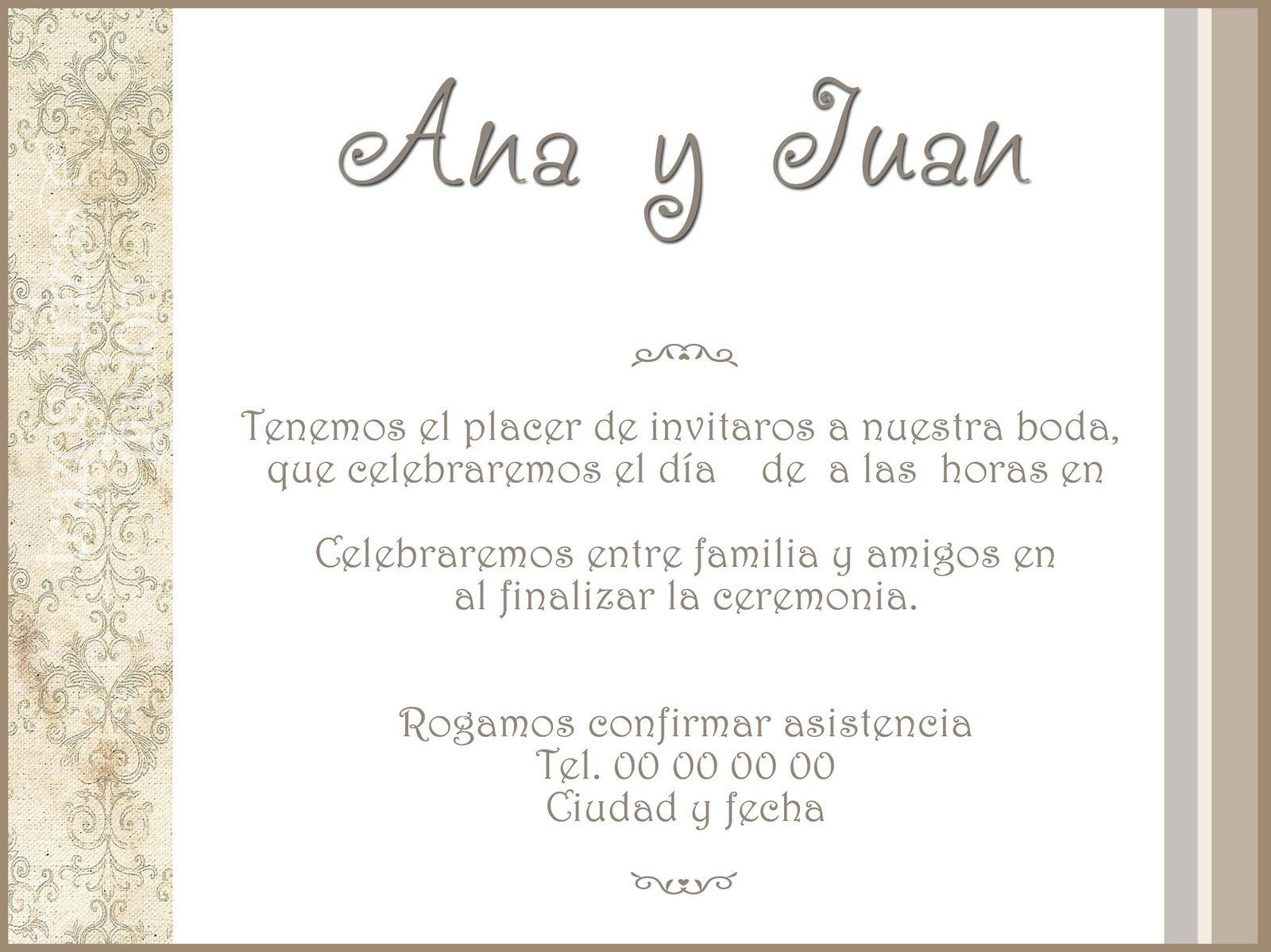 Invitaciones De Casamiento Para Imprimir Gratis En Hd Gratis 2 HD ...