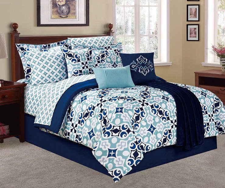 Living Colors Medallion Queen 12 Piece Comforter Set Big Lots In 2021 Comforter Sets Bedding Sets King Comforter Sets 12 piece queen comforter set