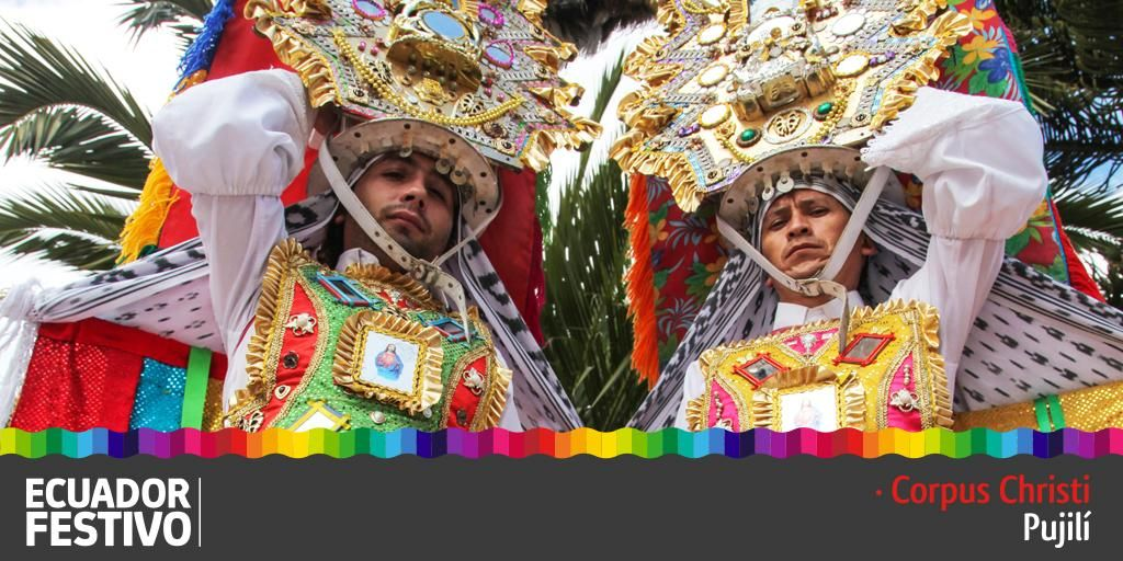 Descarga la guía http://bit.ly/1SAJ0vu de la fiesta del Corpus Christi que se realiza en Pujilí,#EcuadorFestivo