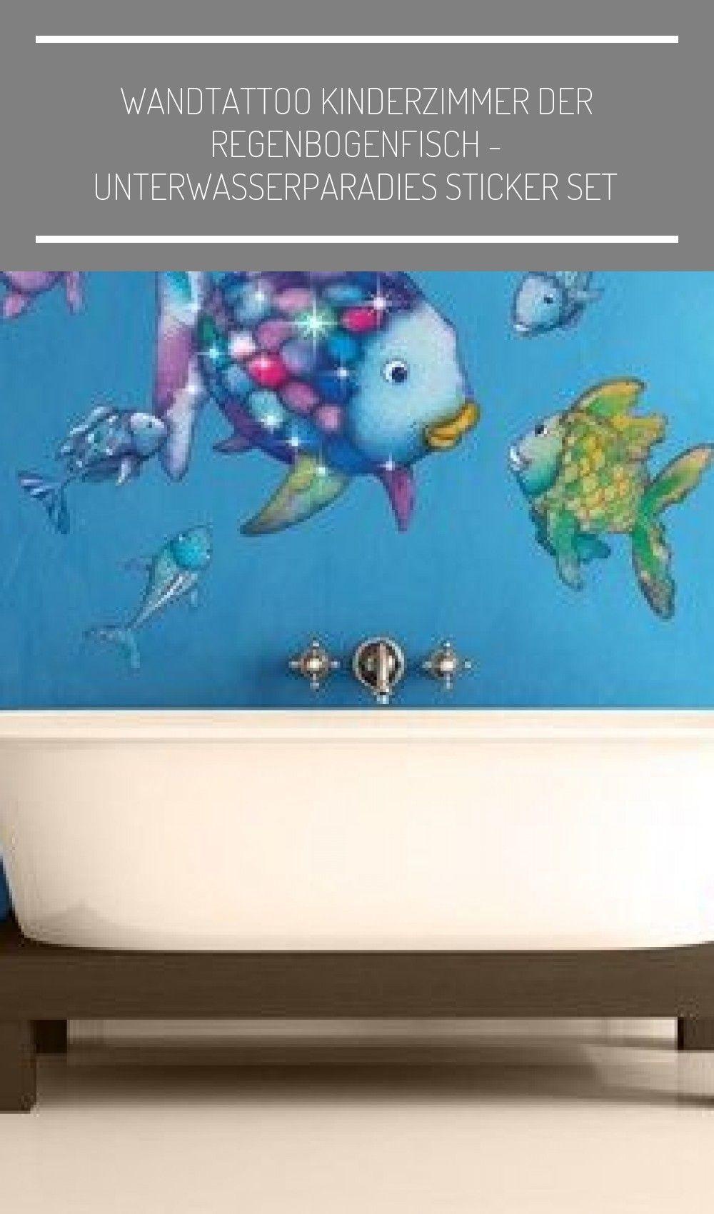 Wandtattoo Kinderzimmer Das Rainbow Fish Underwater Paradise Sticker Set In 2020 Wandtattoo Kinderzimmer Kinderzimmer Kinder Zimmer