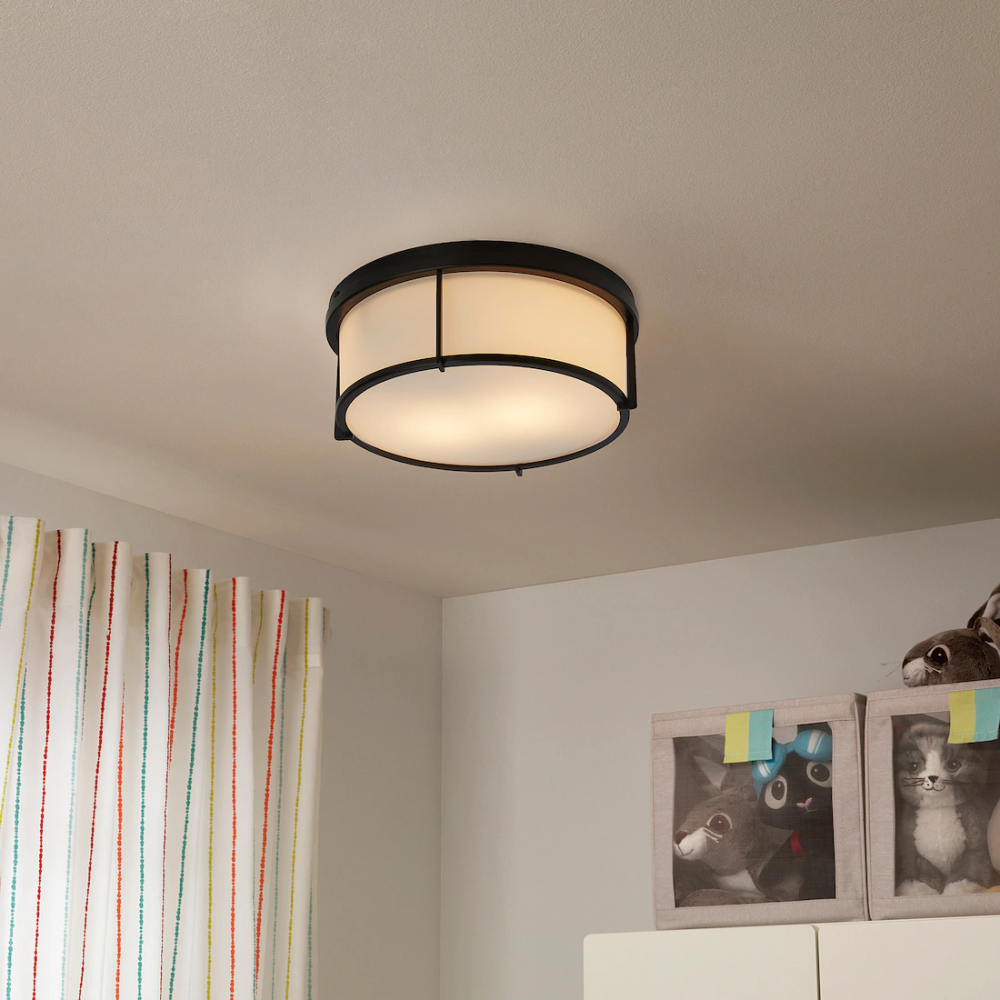 KATTARP Ceiling lamp, glass black IKEA Ikea ceiling