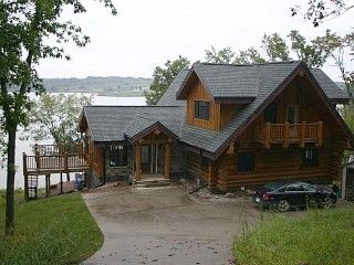 Lake Sundown House Rental Rathbun Area Log Home Spectacular Lake