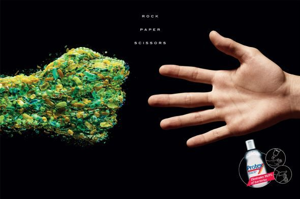 Protex Antibacterial Hand Sanitizer Paper Print Ads Hand