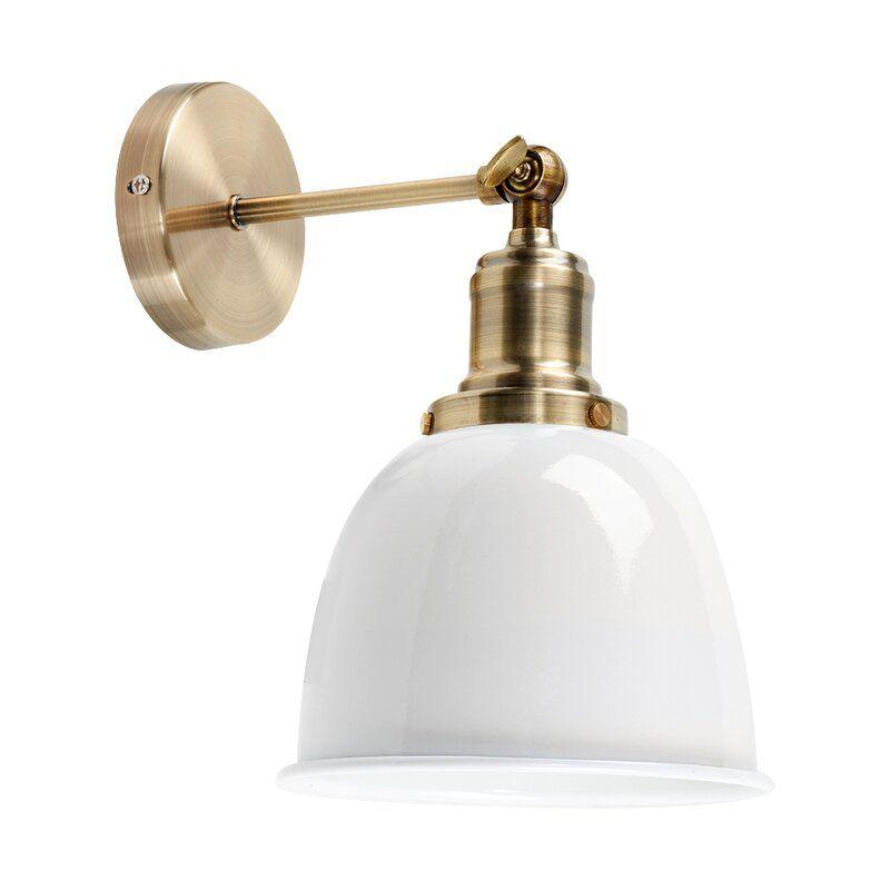 Axton 1 Light Armed Sconce Wall Lights Wall Lights Antique Brass Brass Wall Light