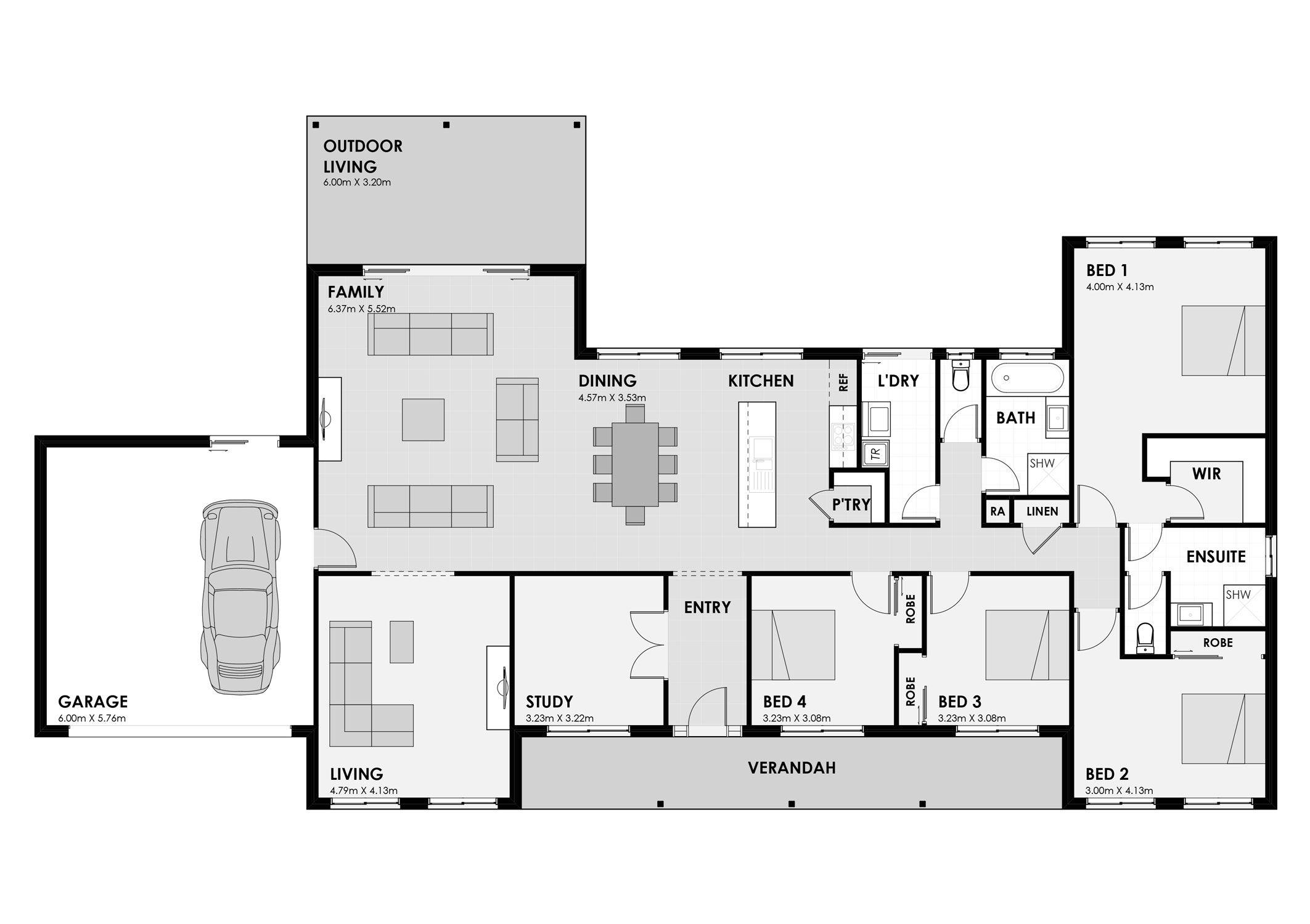 Home Designs Karalee Cavalier Homes Nz General Steel Buildings Steel Buildings House Floor Plans