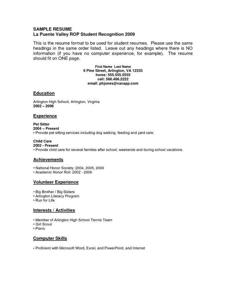 resume template  job resume examples no experience  u2013 free