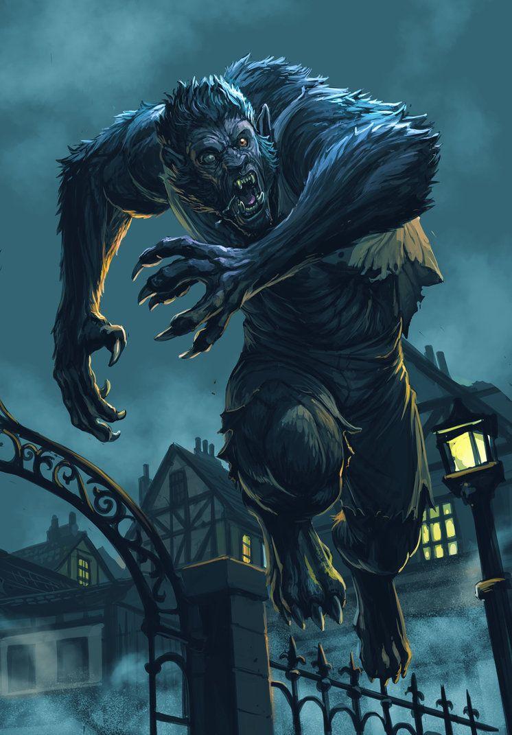 Vampire Und Werwölfe, Vampire Art, American Werewolf In London, Werewolf  Art, Fantasy