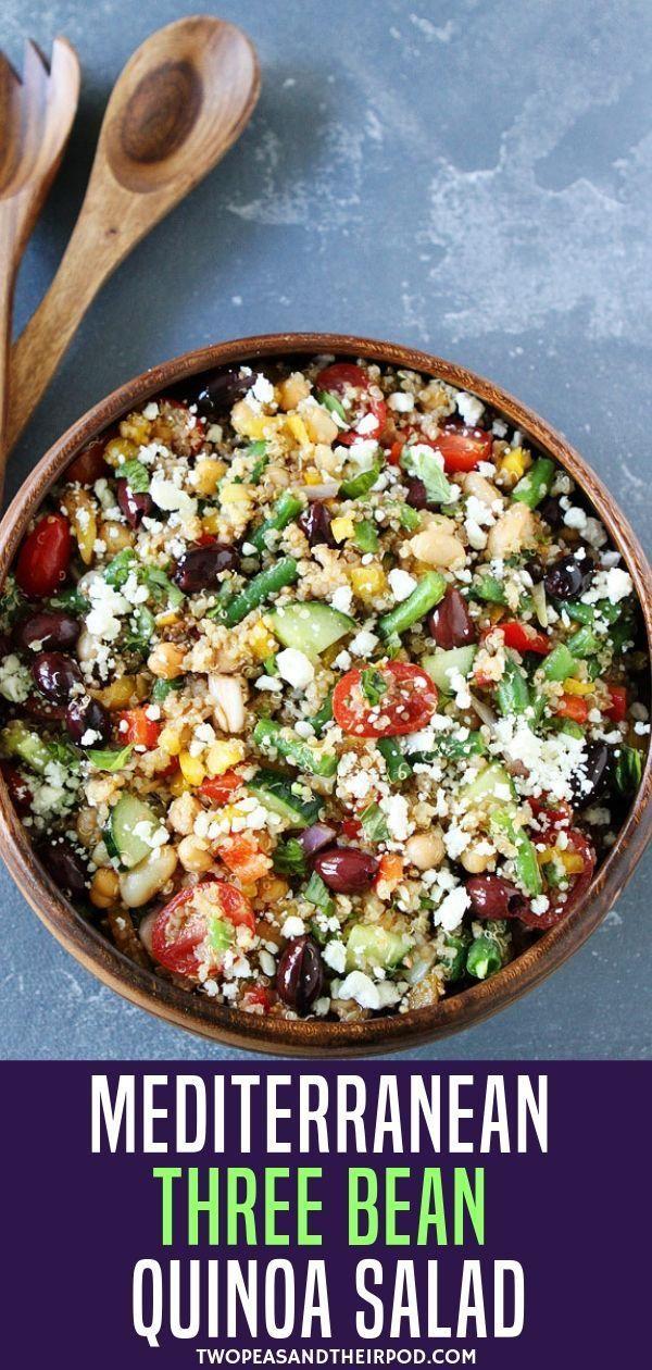 Mediterranean Three Bean Quinoa Salad  - Salads and soups -
