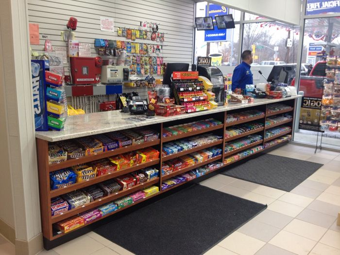 convenience store gondola check out counterjpg 700 - Convenience Store Design Ideas