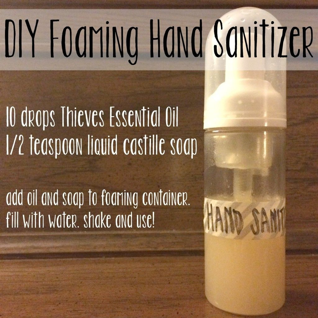 31 Days Day 7 Diy Foaming Hand Sanitizer Aceites Esenciales
