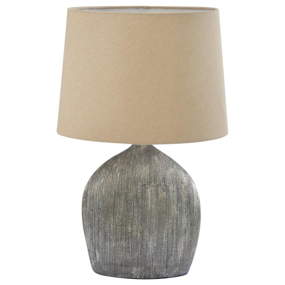 Lampe de table avec abat jour en lin Lampes de table Luminaires