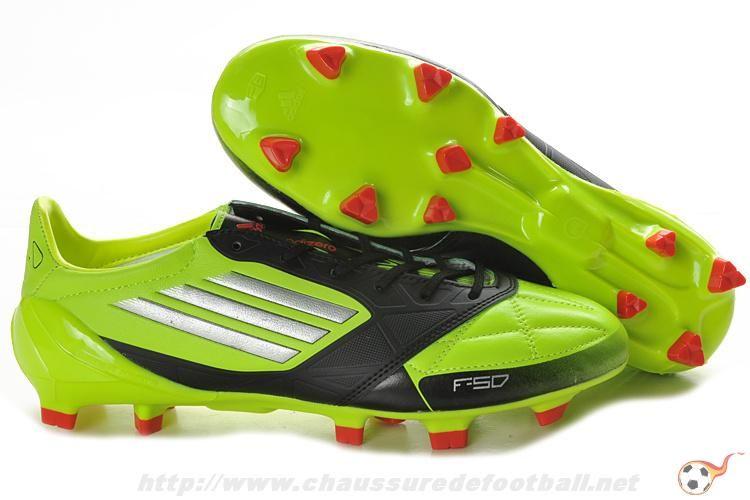 purchase cheap 070a9 70638 Chaussure de foot adidas f50 adizero miCoach Cuir FG Vert Noir FT9202