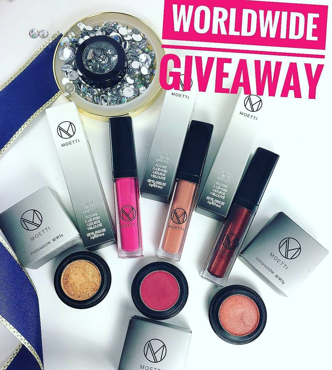 Instagram Makeup Giveaway Win A Free Moetticosmetics Beauty Prize Pack Courtesy Of Moetti Cosmetics Giveaway Giveaway Contest Eyeshadow