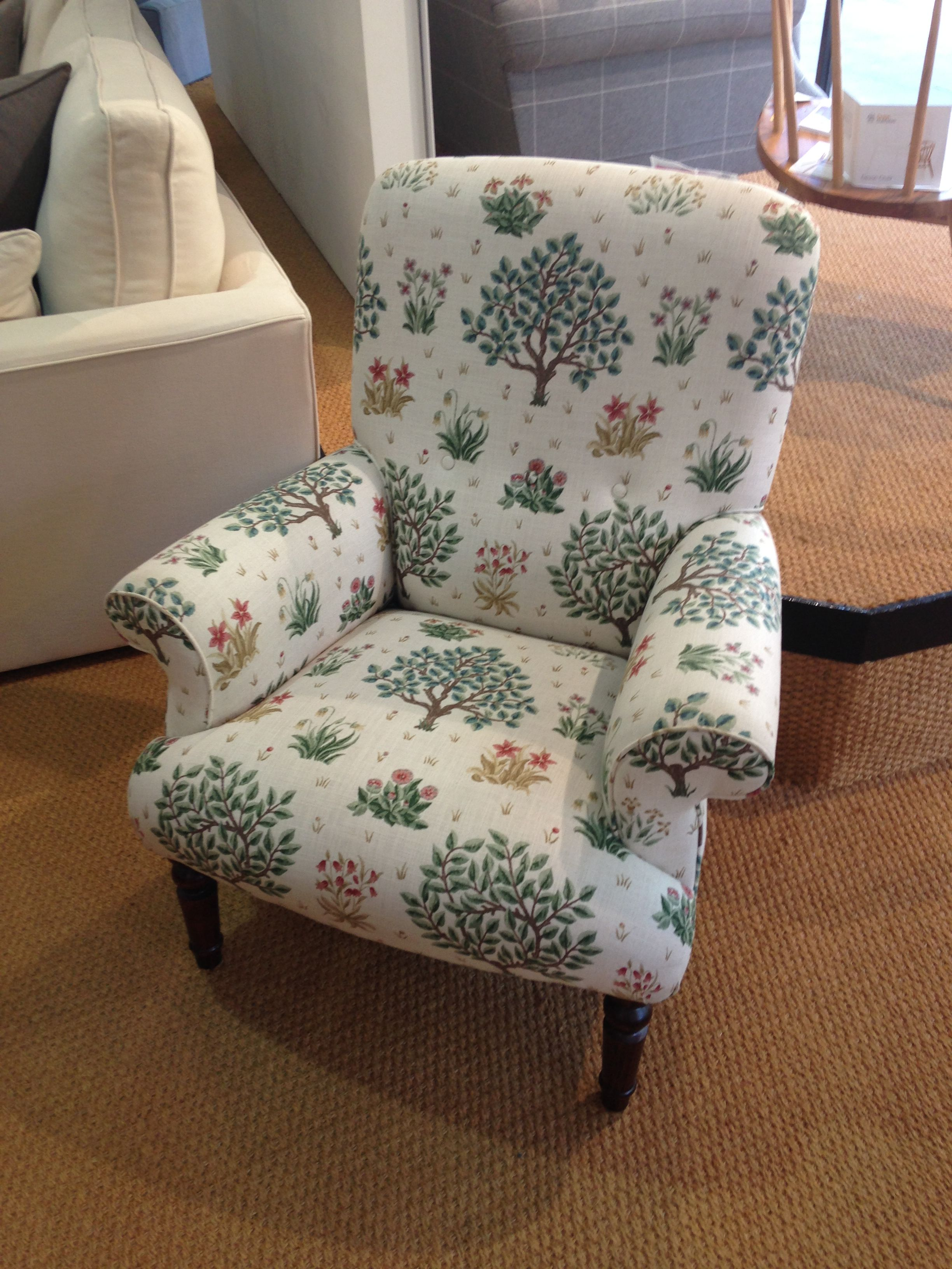 Little Lady Chair in Morris & Co Orchard Bayleaf & Rose