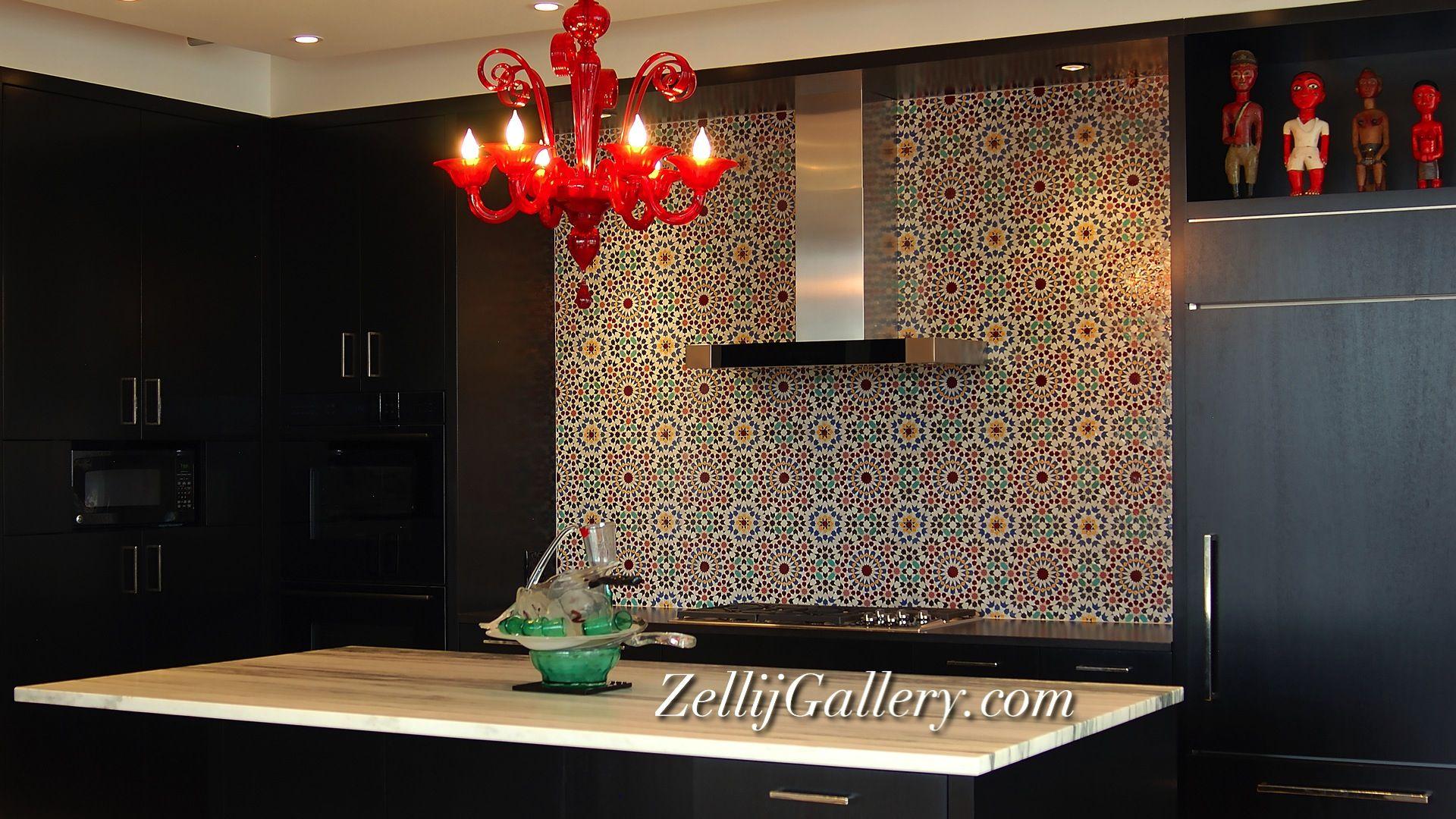 Moroccan tile kitchen backsplash by Zellij Gallery