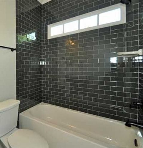 Black Subway Tile Bathroom. I Like It But You Will Never Go For It.