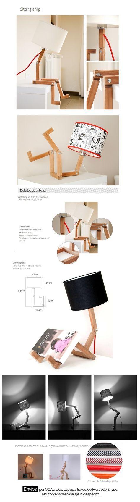 8a97479f26269 Lámpara Velador De Mesa Escritorio Articulada! Mv Muebles -   899