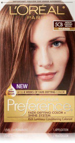 New Medium Chestnut Brown Hair Color