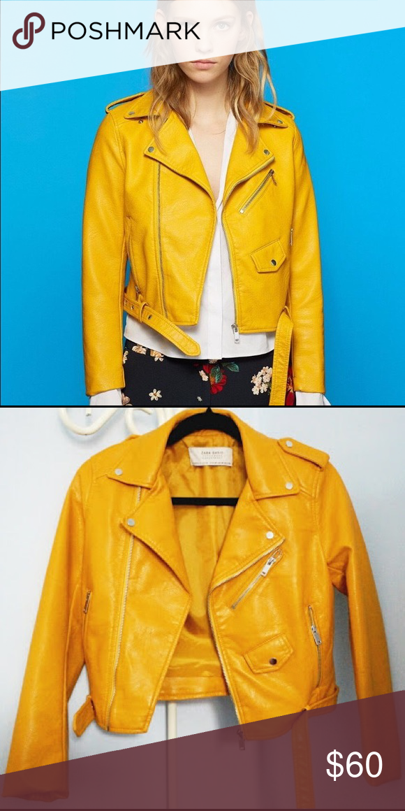 Zara mustard leather jacket   Estilos diferentes