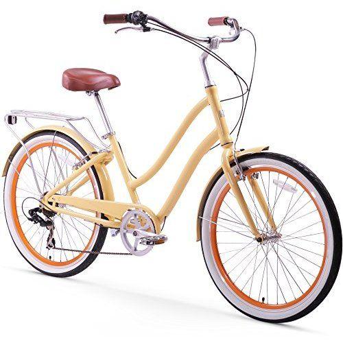 Sixthreezero Women S Around The Block Single Speed Cruiser Bike Coral 17 One Size With Images Hybrid Bicycle Hybrid Bike Bicycle