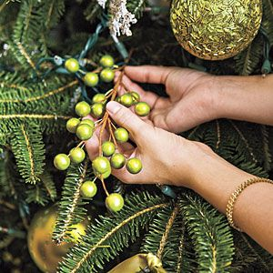 Neat how-to's on tree decorating from Southern Living....