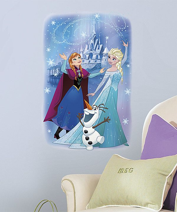 Look at this Frozen Peel & Stick Wall Graphic on #zulily today!