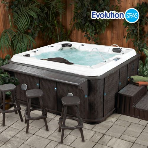 Lovely Hot Tub Bar and Stools