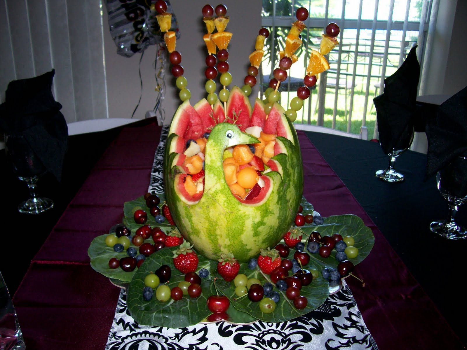Cucumber carvings fruit carving vegetable