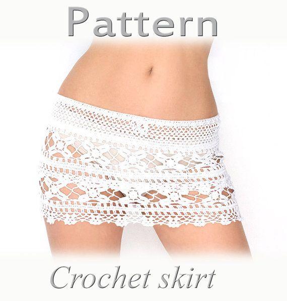 Crochet beach skirt PATTERN PDF crochet cover up | Falda, Tejido y ...