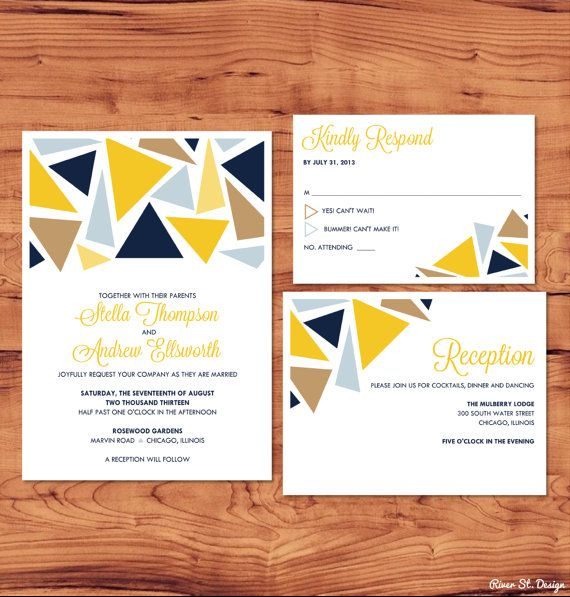 printable wedding package invite rsvp enclosure card chelsea