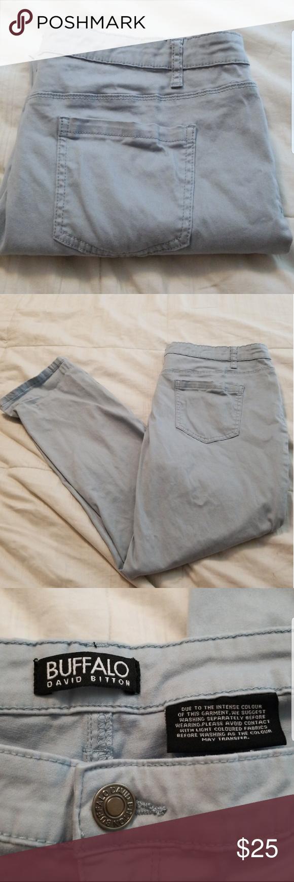 "Buffalo David Bitton Women/'s /""DAILY /"" Mid Rise Stretch Skinny Ankle Grazer Pants"