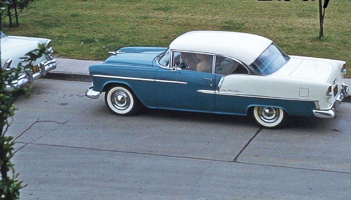 1955 Chevrolet Bel Air Two Door Hardtop Glacier Blue Over India