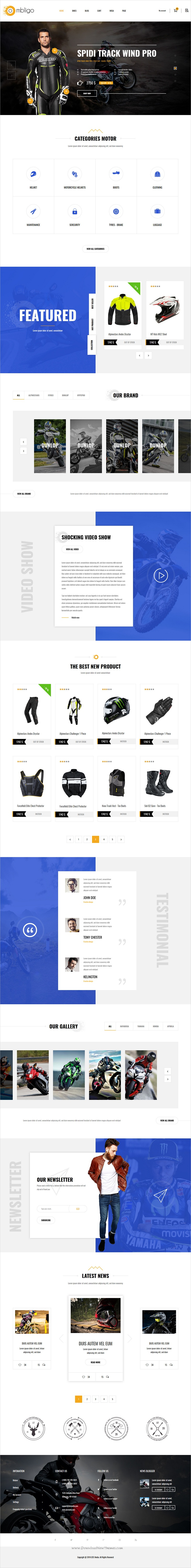 Ombligo is a dynamic and modern responsive bootstrap template for