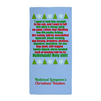 national lampoon s christmas vacation movie beach towel the funniest clark griswold speech from the movie order now for a unique christmas gift